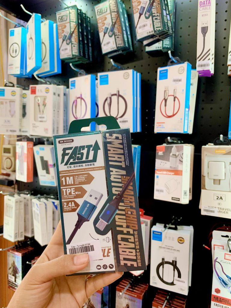 dây cáp sạc tự ngắt bán tại phụ kiện số tino Bắc Giang