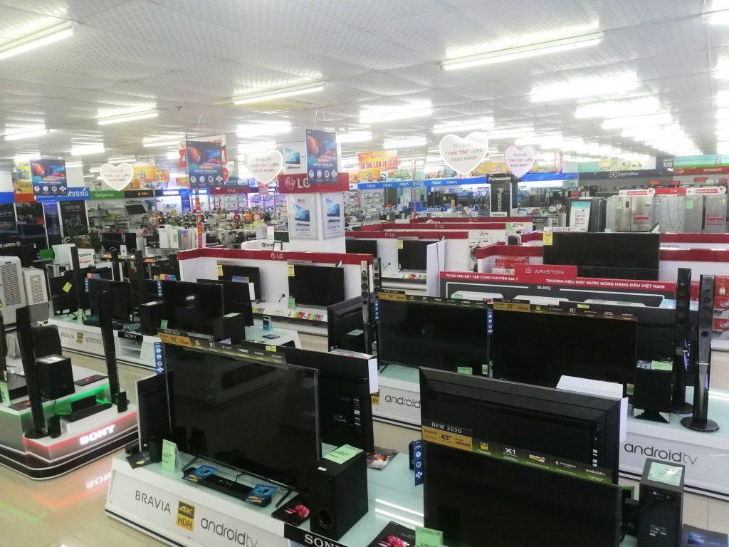 Hình ảnh bên trong của siêu thị điện máy Văn Chiến Bắc Giang
