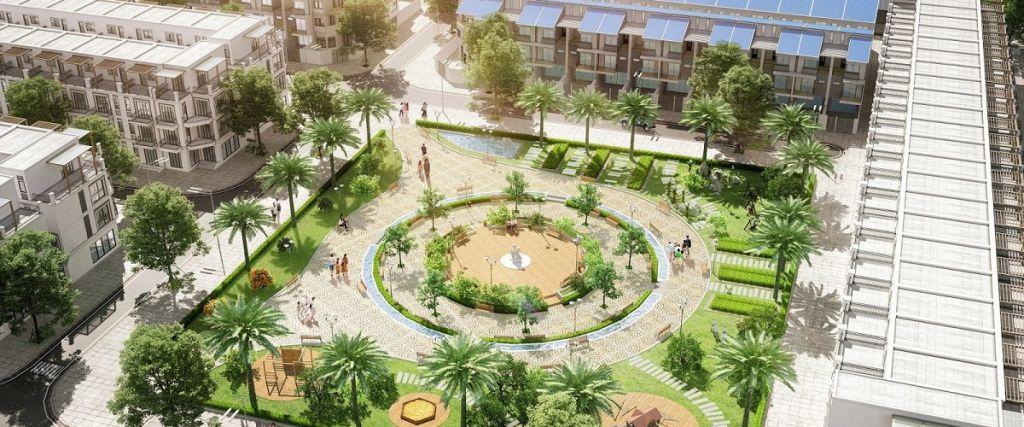 Khuôn viên công cộng dự án Vista City tại Bắc Giang