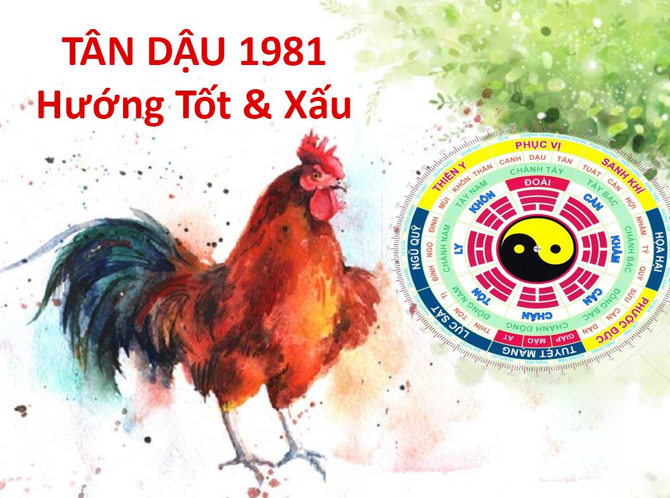 Phong thuỷ hướng tốt cho nam nữ sinh năm 1981 Tân Dậu